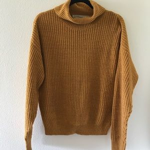 Lovers + Friends mustard turtleneck
